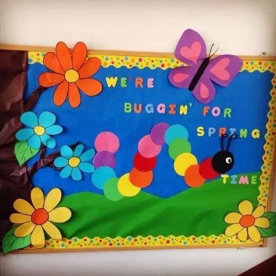 幼儿园亲子手工之环境创设,开学必备的评比栏红花墙和表扬墙主题图片