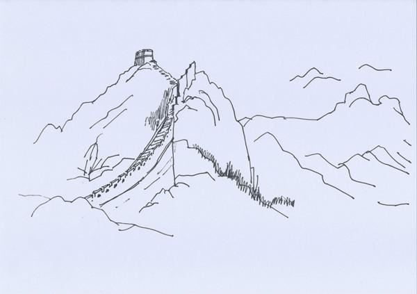 罗哲文手绘明长城图