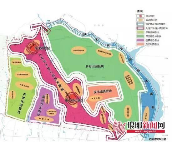 茶山风景区及周边区域总体布局结构