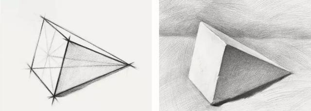 02 画好素描,必须会画几何图形 先来看一组 球体技法步骤图 ▼作品