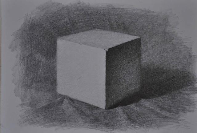学素描必经之路:正方体的画法,经典讲解步骤,值得收藏