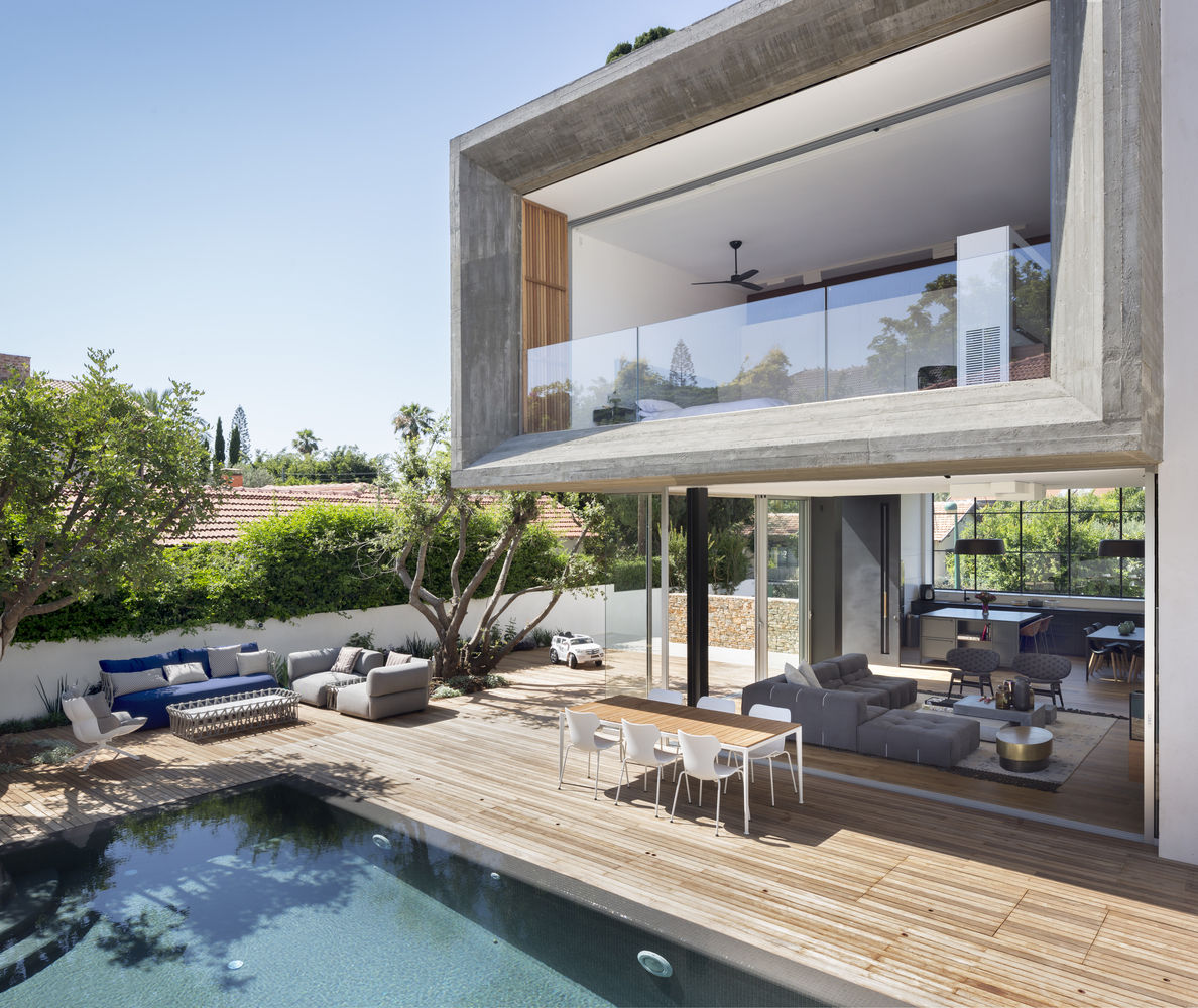 农村自建房设计参考:320平带泳池庭院的现代风格别墅住宅图片