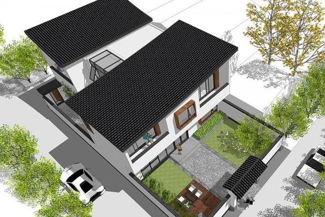 新中式农村自建别墅,适合咱们农村盖,设有中庭,前后院