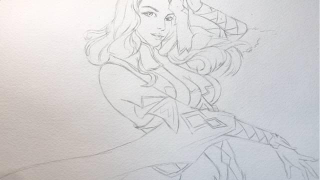 水彩人物教程教你画美腻的小女孩一枚
