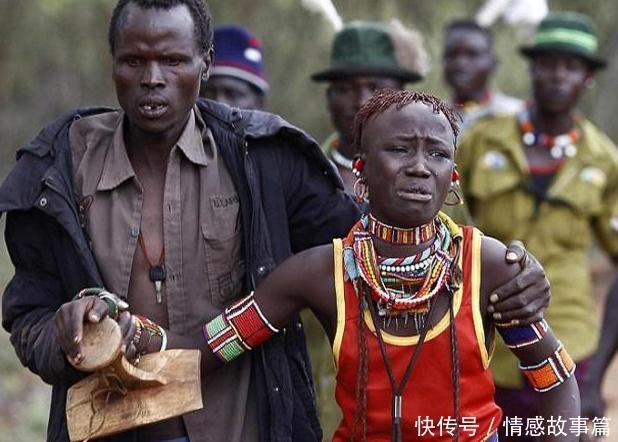 非洲的原始部落,结婚方式令人费解,新娘当天痛哭流涕图片
