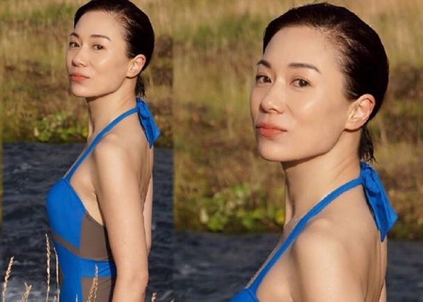 新浪娱乐讯 据香港媒体报道,今年48岁的张可颐在微博上传一张清凉