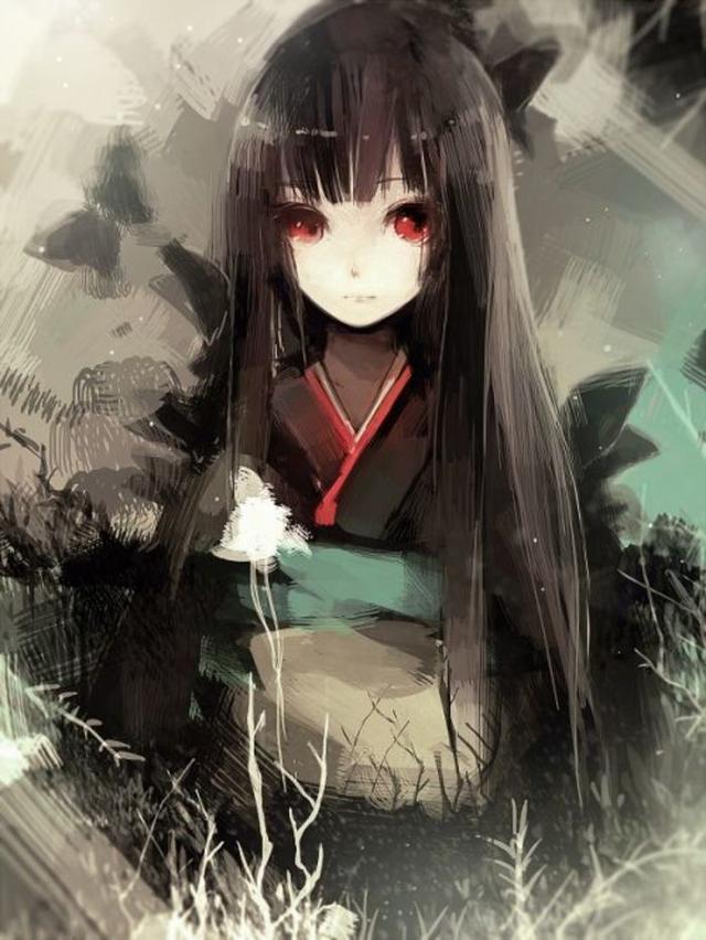 暗黑系动漫女图_暗黑系病态女生头像