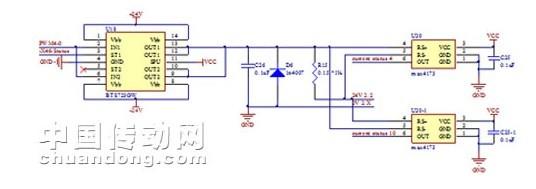 电磁阀控制液压控制阀的端口的油压,从而改变相关油路的通断,用以控制