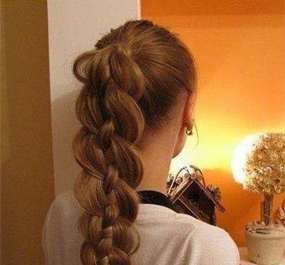 好看的辫子编发造型,不一样的马尾辫发型!