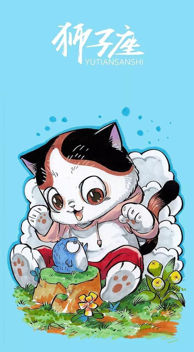 猫咪版十二星座太可爱啦!每张都可以做手机壁纸!
