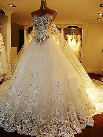 十二星座的代表婚纱,太美了!