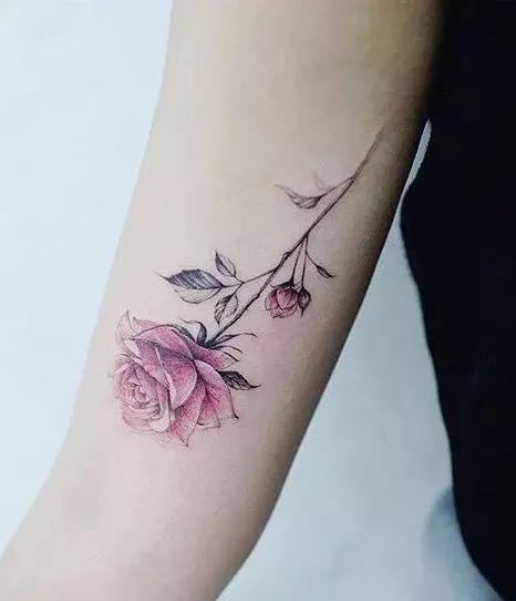 一支蔷薇 纹身素材