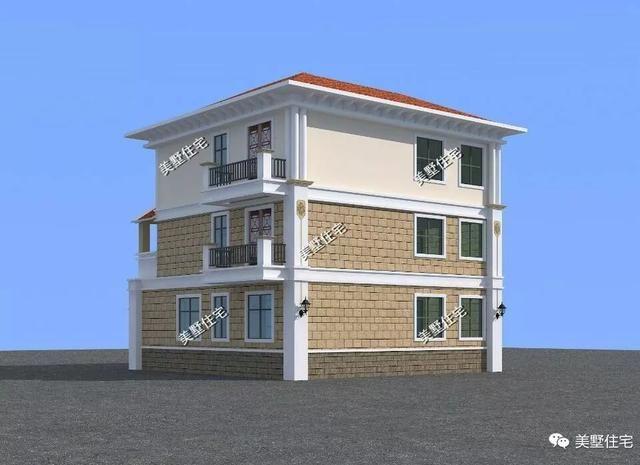 12x13.2米三层农村自建房,比城里的别墅都美