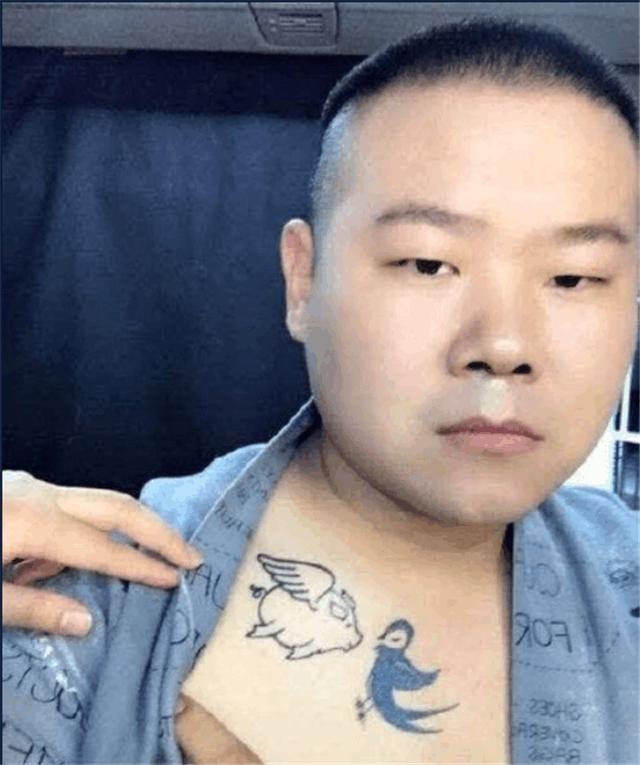 """网友们对这个""""猪和燕子""""纹身发表了看法""""从你的全世界路过的猪头和"""