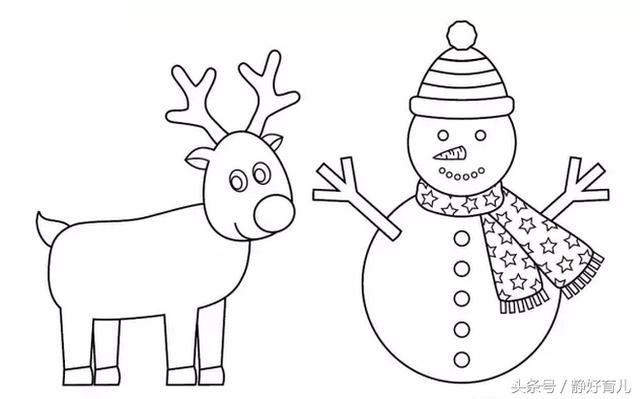 圣诞画简单又漂亮的画_以圣诞节为主题的简笔画图片大全