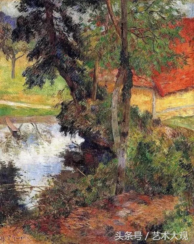梵高唯一的画友|高更乡村风景油画欣赏