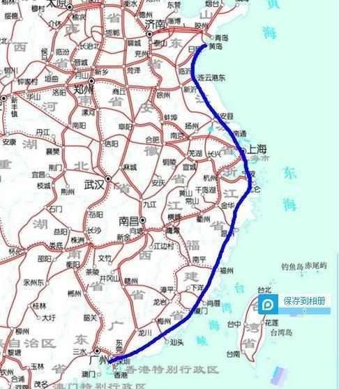 东部沿海高铁大通道将规划, 从东三省至海南, 衔接11省市区
