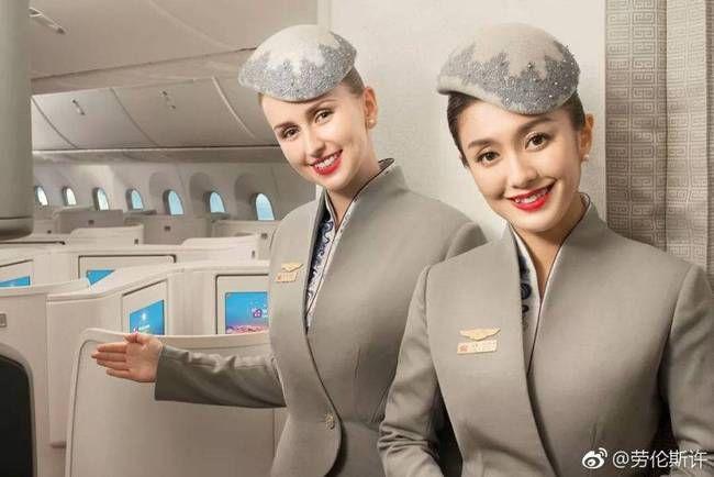 """""""搭配温婉素雅的全新妆容正式上机,标志着海南航空品牌形象的全面升级图片"""