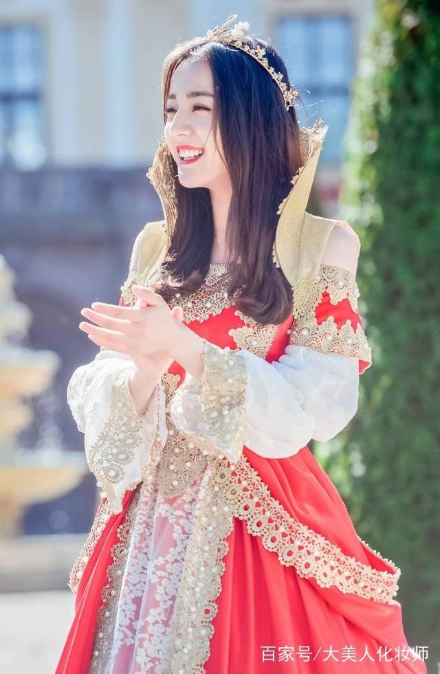 女明星的公主造型,迪丽热巴梦幻,赵丽颖秀美,最后一位