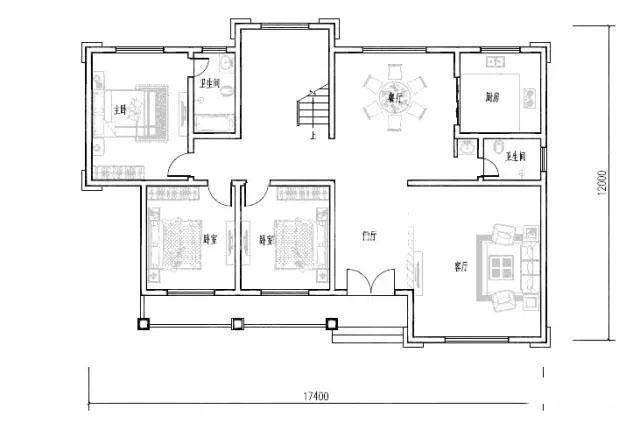 3款30万以内农村一层房屋设计图