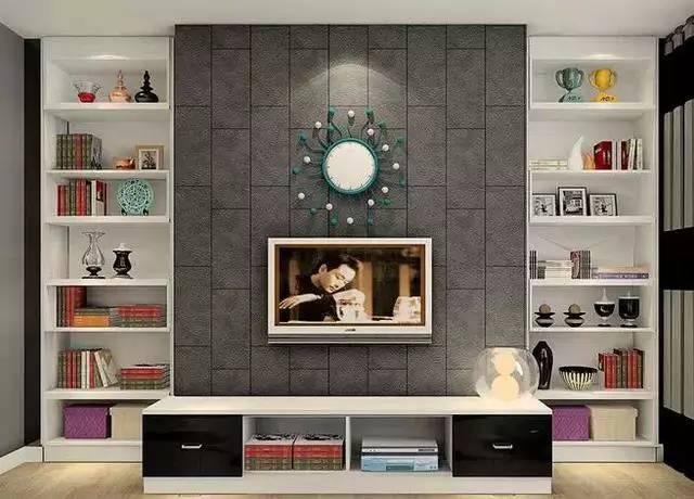 怎么装修电视背景墙,给电视背景墙加电视柜