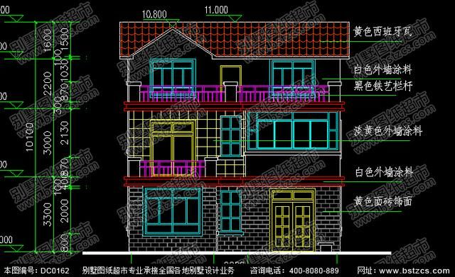 三层实用农村房屋设计效果图及施工图