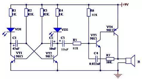 爱心花样流水灯制作 所有的复杂电路都是由各种各样的简单电路结合而