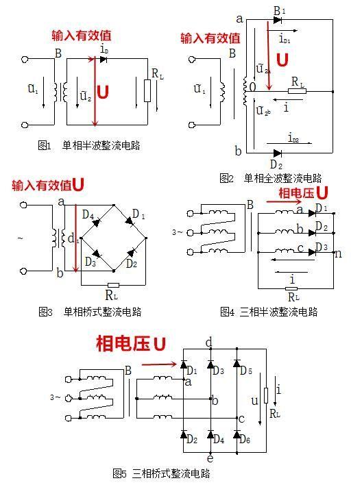 二极管整流电路图