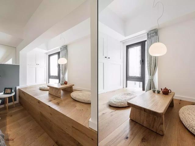 把地面抬高50公分,60平的小户型竟多出一个下沉式客厅图片