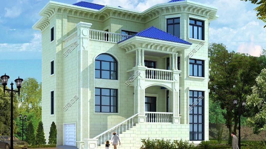 10套小户型农村别墅,方正大气又时尚,30万建3层最适合