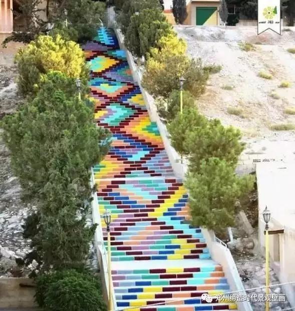 缔造时代创意手绘3d立体画楼梯,看过的人都会记住这