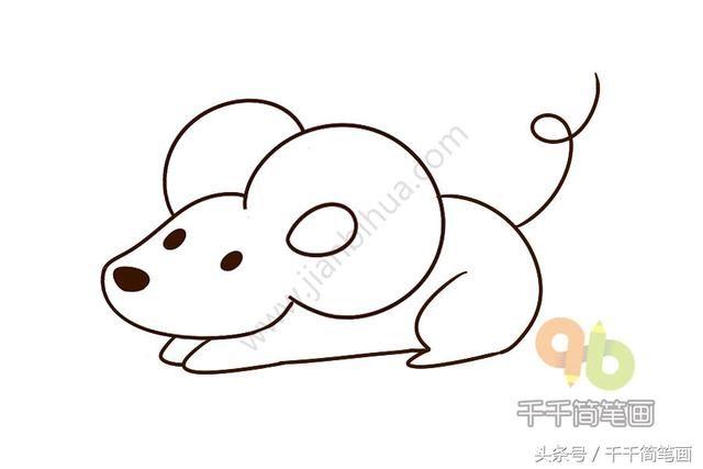 动物简笔画步骤简单易学_儿童简笔画教程