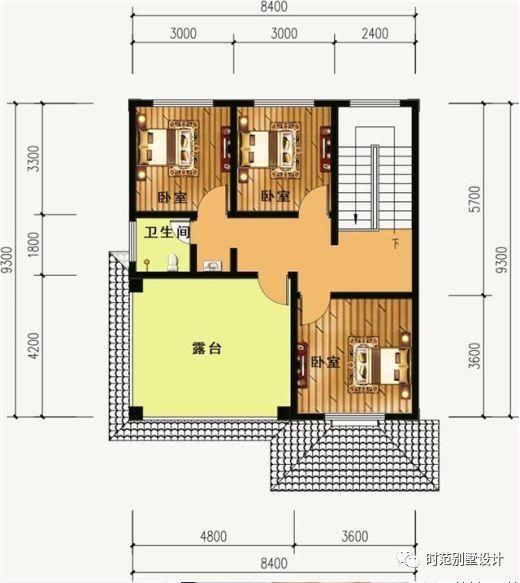 小户型欧式别墅,带堂屋大露台7室3厅,适合农村自建!