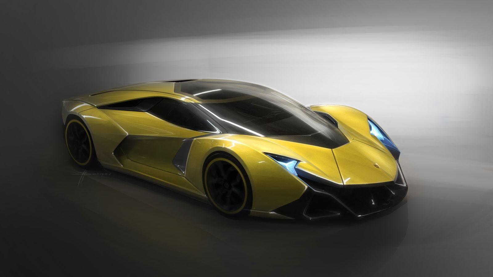 这款encierro概念车采用了创新的设计,目前是为了更好的诠释兰博基尼图片
