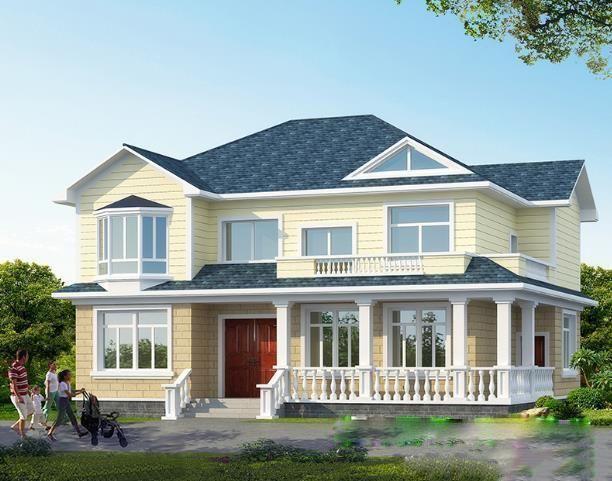 最新二層別墅外觀效果圖施工圖,你們說好看嗎?
