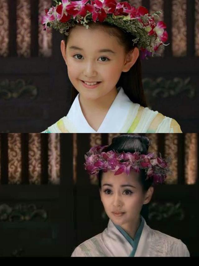 1·赵丽颖 在电影《宫锁沉香》中,蒋依依饰演赵丽颖的小时候,张子枫