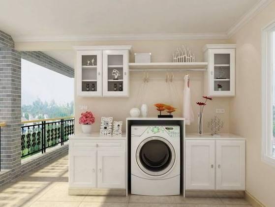 例如阳台,卫生间,厨房,甚至客厅都有人摆,那么,洗衣机摆放在什么位置