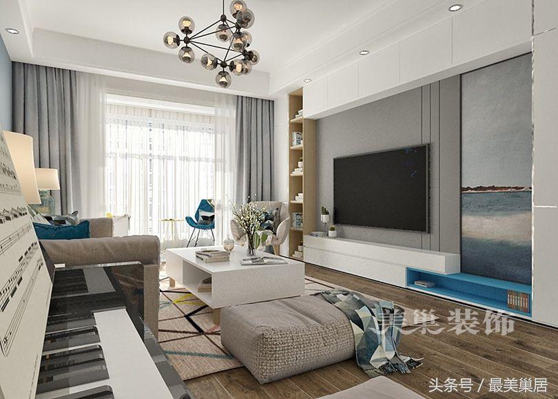 现代简约电视背景墙黑白灰还是做柜子?护墙板有必要么