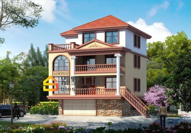 6款农村别墅定制设计图,欧式风格大气,四合院经典