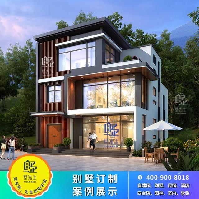 现代新农村小户型别墅设计图纸乡村三层自建房子私人定制设计