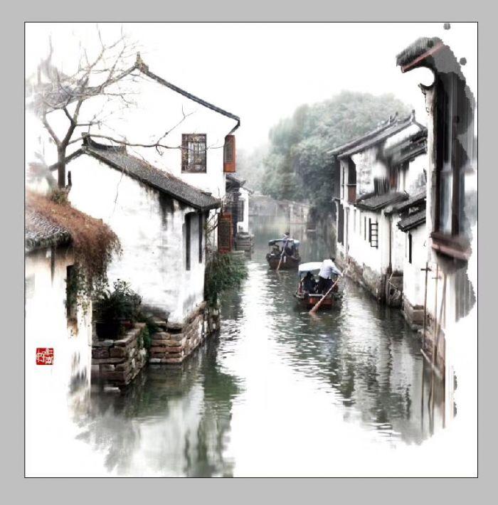 风景 古镇 国画 建筑 旅游 摄影 700_710