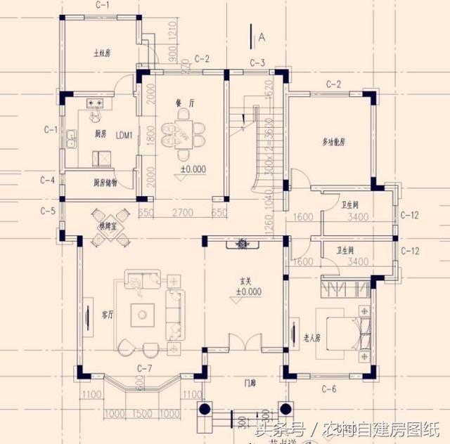 10款二层农村自建房图纸,2款带土灶,3款带车库,7款带堂屋