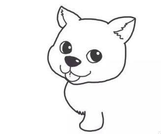 喜欢小狗?但不知怎么画?教你简笔画哈士奇