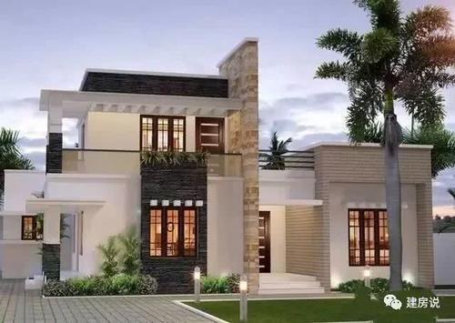 免费领取666栋别墅施工图        平屋顶现代简约的别墅,不仅因为它鲜