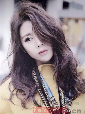 圆脸中长发设计 韩式造型更显美