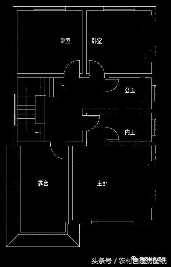 面宽8米的农村宅基地建房,6款图纸别墅只有,让怎么外墙漆经典图纸算图片