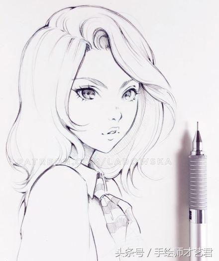 自动铅笔也能画出好看的小哥哥小姐姐动漫风插画?