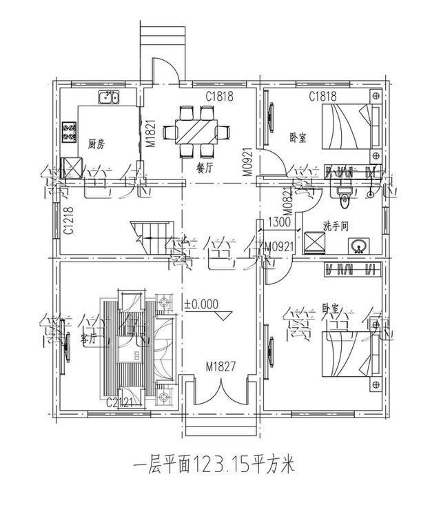 新农村三层自建房别墅11x11米 带露台台球室!时尚大气