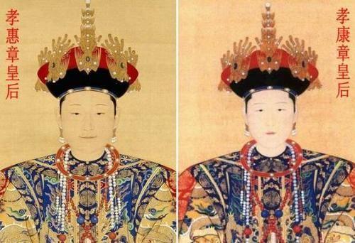 如康熙帝继位时,尊嫡母孝惠章皇后(后来的谥号)为母后皇太后,上徽号仁