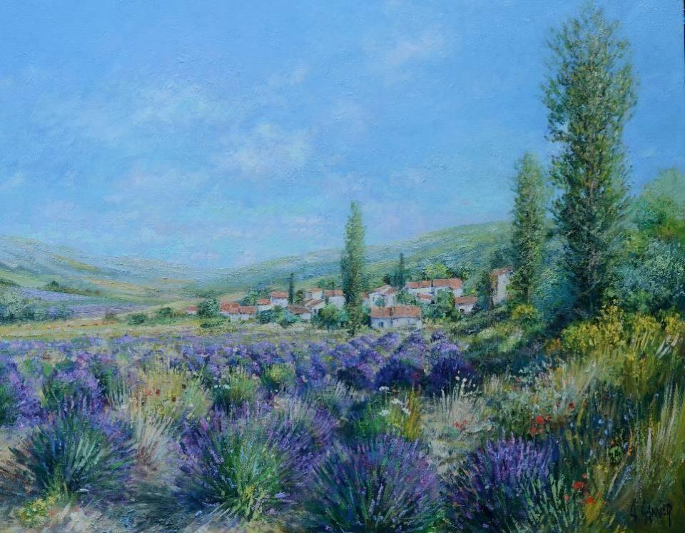 油画欣赏:这样浪漫祥和的法国风景油画让人沉醉